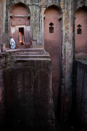 ancient rock hewn christian church in lalibela ethiopia africa