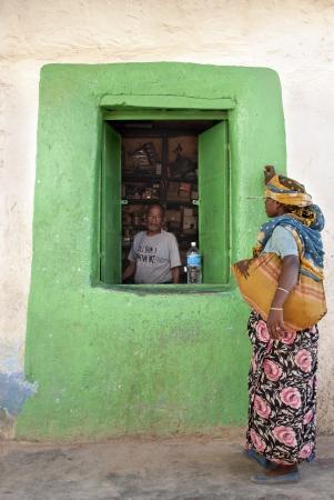 streetscene: grocery shop in harar ethiopia