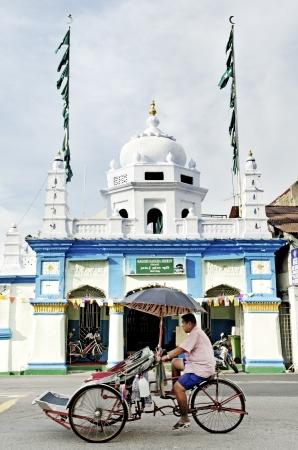 streetscene: hindu temple in penang malaysia
