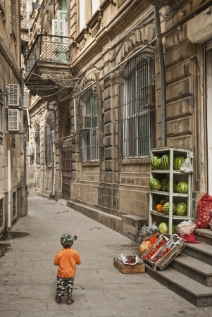 baku: architecture in baku azerbaijan street