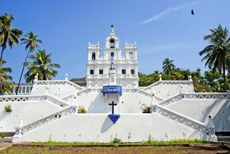 immaculate: Iglesia de la Inmaculada Concepci�n en Panaji Goa India Foto de archivo