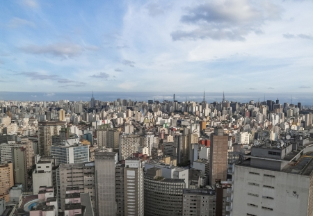 central sao paulo in brazil photo