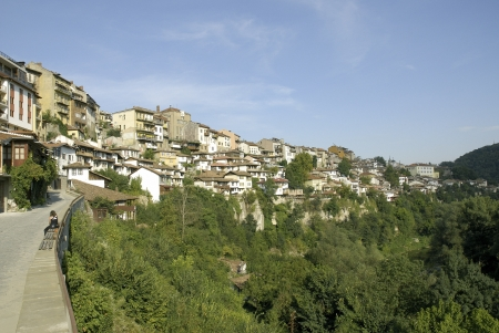 view of veliko tarnovo old town in bulgaria Stock Photo