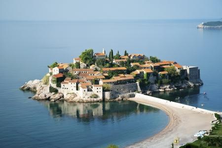 sveti: sveti stefan island resort in montenegro Stock Photo