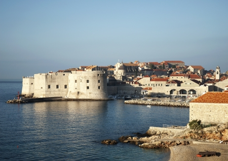 walled: dubrovnik walled city in croatia