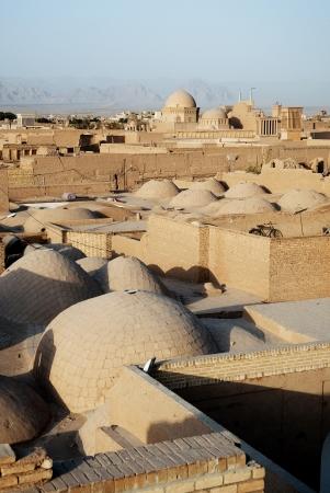 rooftops of yazd iran