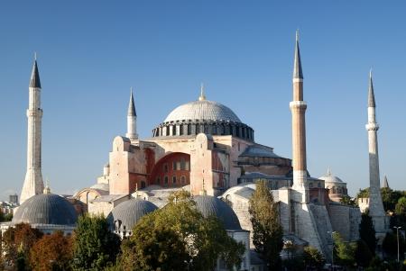 hagia: hagia sophia mosque exterior in istanbul turkey