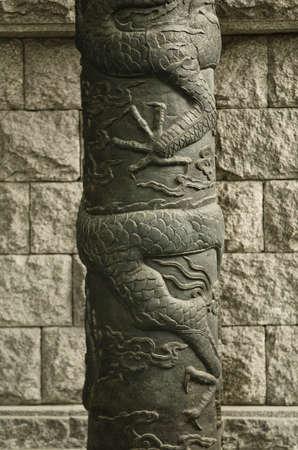 metal sculpture: metallo scultura tradizionale a Seoul Corea del Sud