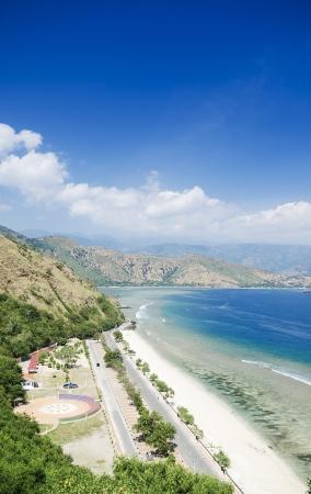 rei: cristo rei beach near dili in east timor