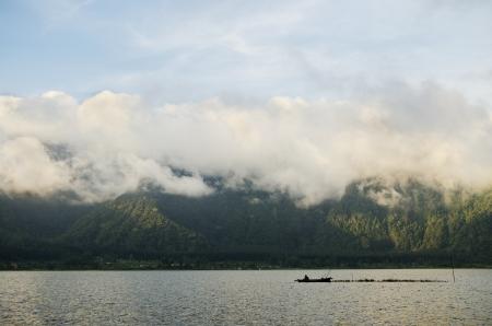 bratan: lake bratan in bali indonesia Editorial