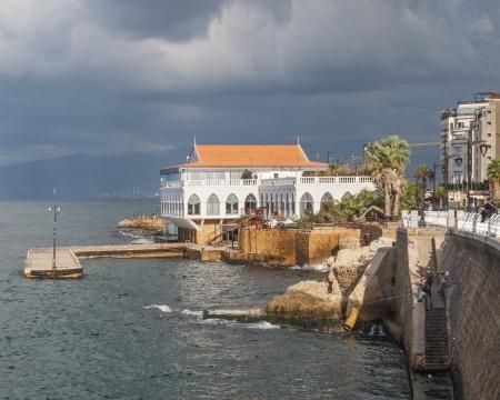 beirut lebanon: coastline and corniche of beirut lebanon