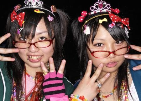 harajuku: Japanese cosplay fan in harajuku tokyo japan