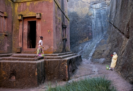 ancient rock hewn churches of lalibela in ethiopia