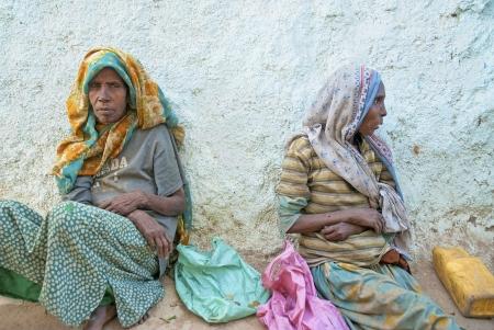 beggar's: beggars in harar old town in ethiopia
