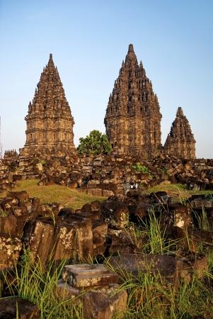 jogjakarta: Prambanan temple near yogyakarta in java indonesia Stock Photo