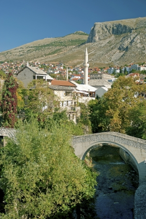 mostar: view of mostar in bosnia herzegovina