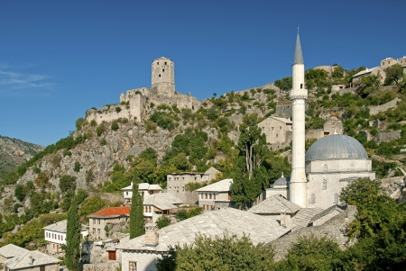 mostar: view of pocitelj village near mostar in bosnia herzegovina Stock Photo