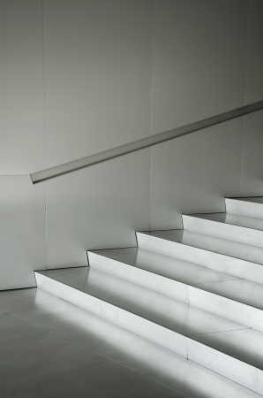 aluminium silver metal stairs architecture detail photo