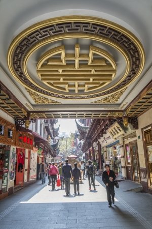 traditional architecture shopping area in shanghai china