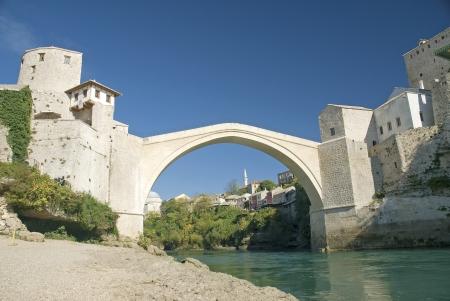 mostar: old mostar bridge in bosnia