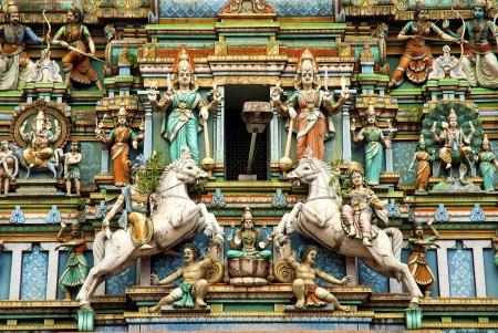 Hindu temple with indian gods in kuala lumpur malaysia photo