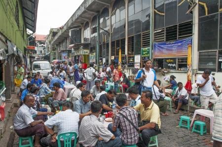 central market: mercado central de Yangon en Myanmar Editorial