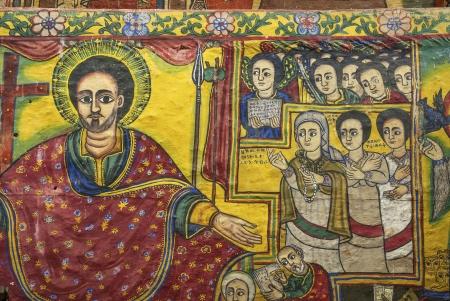 naif: ancient church interior paintings in gondar ethiopia
