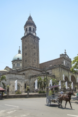 manila: manila cathedral landmark in philippnes