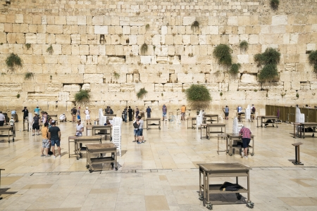the western wall holy site in jerusalem israel