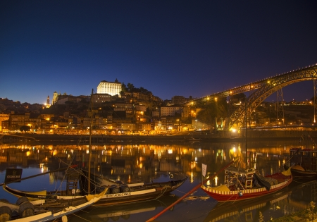rabelo: old town river area of porto in portugal