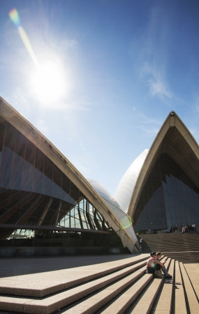 sydney opera house architecture detail in australia