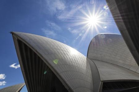 detail of sydney opera house landmark in australia
