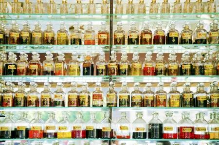 cairo: perfume shop in cairo souk market in egypt Stock Photo