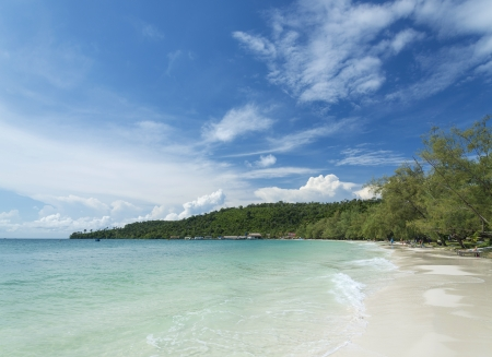 koh rong island beach view in cambodia Stock Photo - 24633820