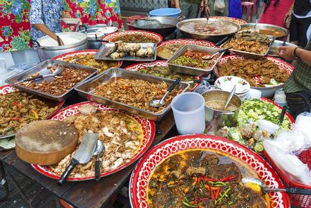 street food stall in bangkok thailand