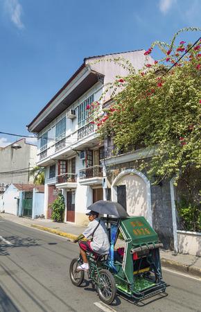 casa colonial: casa colonial en la zona hist�rica de intramuros de Manila, Filipinas
