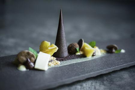 overheerlijke chocolade, fruit en noten dessert platter