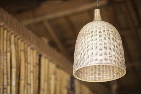 interior design: natural tropical bamboo interior design lampshade detail