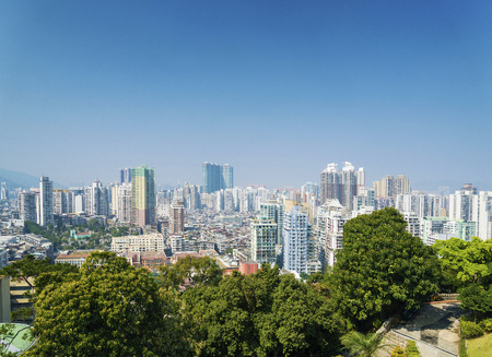 macao: view of central macau macao residential blocks area in china Stock Photo