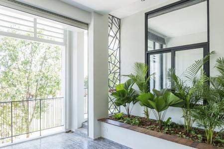 modern contemporary interior design balcony garden plants