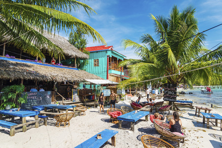 koh rong island main village bars and restaurants  in cambodia