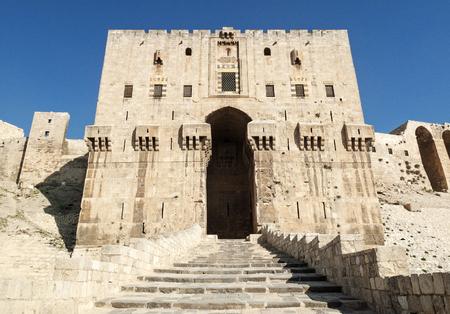 citadel: gate of aleppo citadel landmark in syria