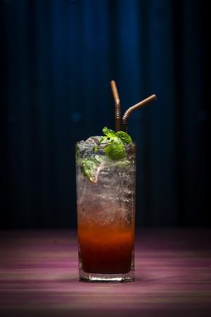 grenadine: grenadine mojito trendy modern fusion cocktail drink in bar
