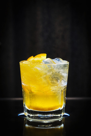 alcohol screwdriver: screwdriver classic orange and vodka cocktail drink in glass