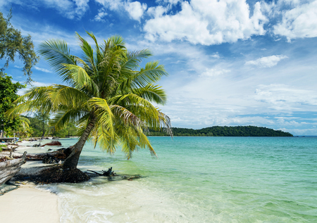 quiet: quiet empty paradise beach in koh rong island near sihanoukville cambodia Stock Photo