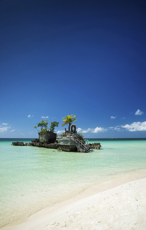 island paradise: station 2 main beach area of tropical paradise boracay island philippines Stock Photo