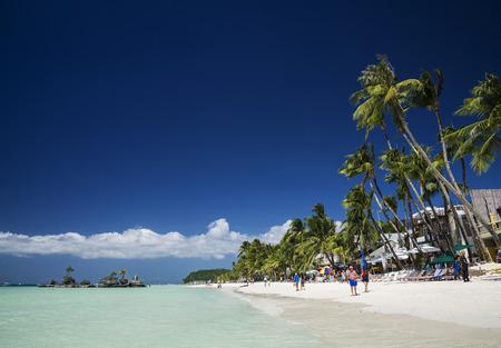boracay: boracay island tropical coast beach landscape in philippines