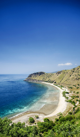 cristo: tropical paradise cristo rei beach near dili in east timor asia Stock Photo