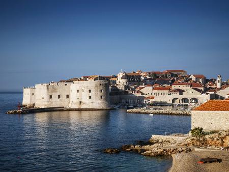 dubrovnik old town view and adriatic coast in croatia balkans Editorial