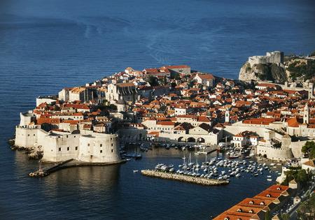 dubrovnik old town view and adriatic coast in croatia balkans